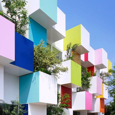 Wonderful Coloured Boxes And Plants Cover The Latest Sugamo Shinkin Bank By  Emmanuelle Moureaux Good Ideas
