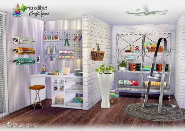 SIMcredible Designs: Craft space • Sims 4 Downloads | Sim 4