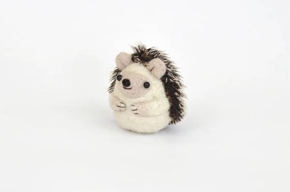 Happy Hedgehogs DIY felt kit Felt nature table