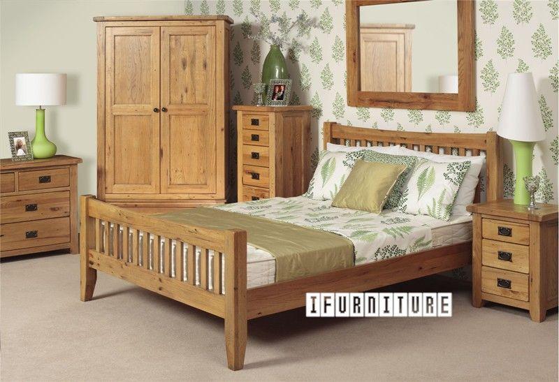 Best Riverland Solid Oak Bed In Queen Size Bedroom Nz S 400 x 300