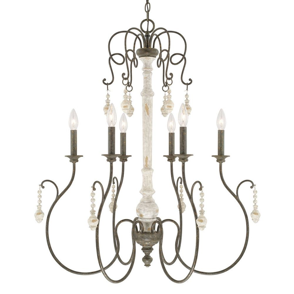 Capital Lighting Vineyard Collection 6 Light French Country Chandelier Free Shipping Today