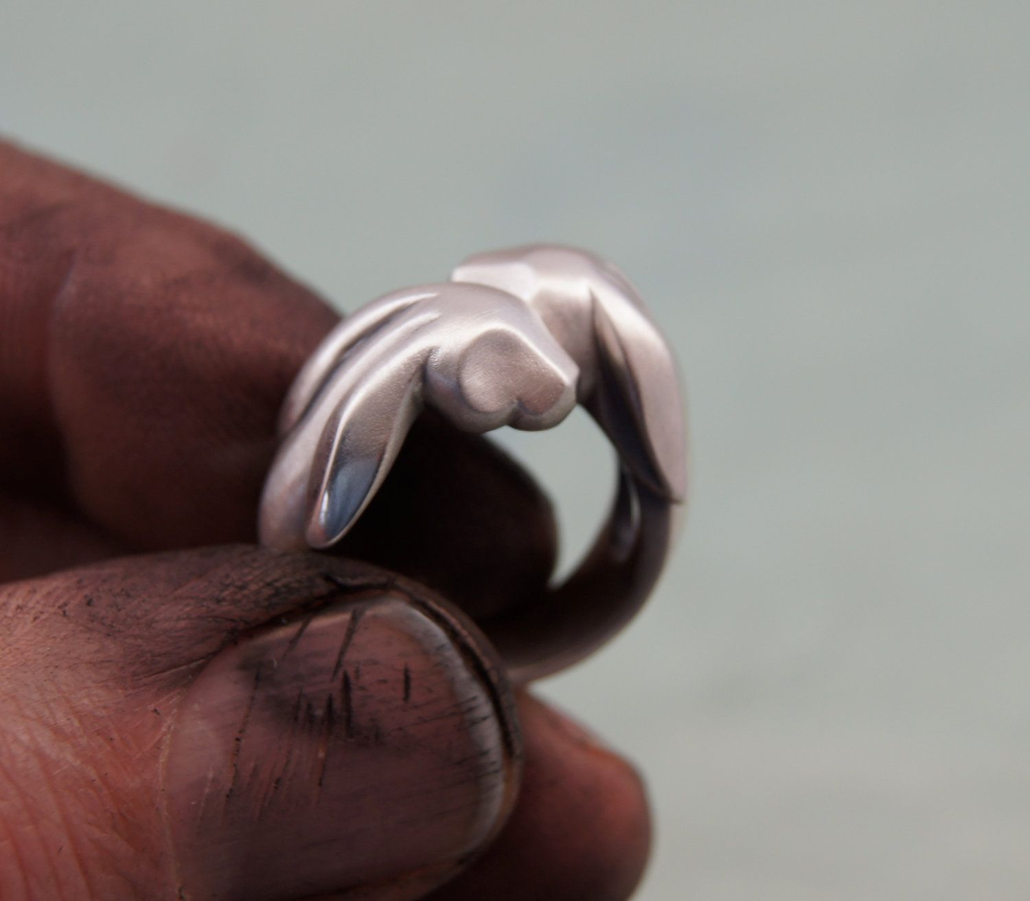 9a3e2c3d6d2b9 Bunny love ring, silver | Fashion/ Jewelry | Pinterest | Rings ...