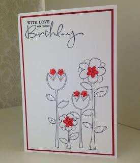 Randis hobbyverden: Happy birthday i rödt