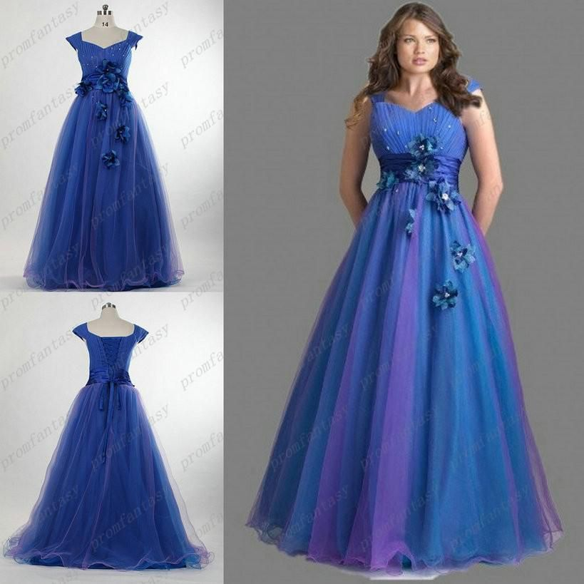 Discount 2016 Real Image Corset And Tulle Prom Dresses Ombre ...