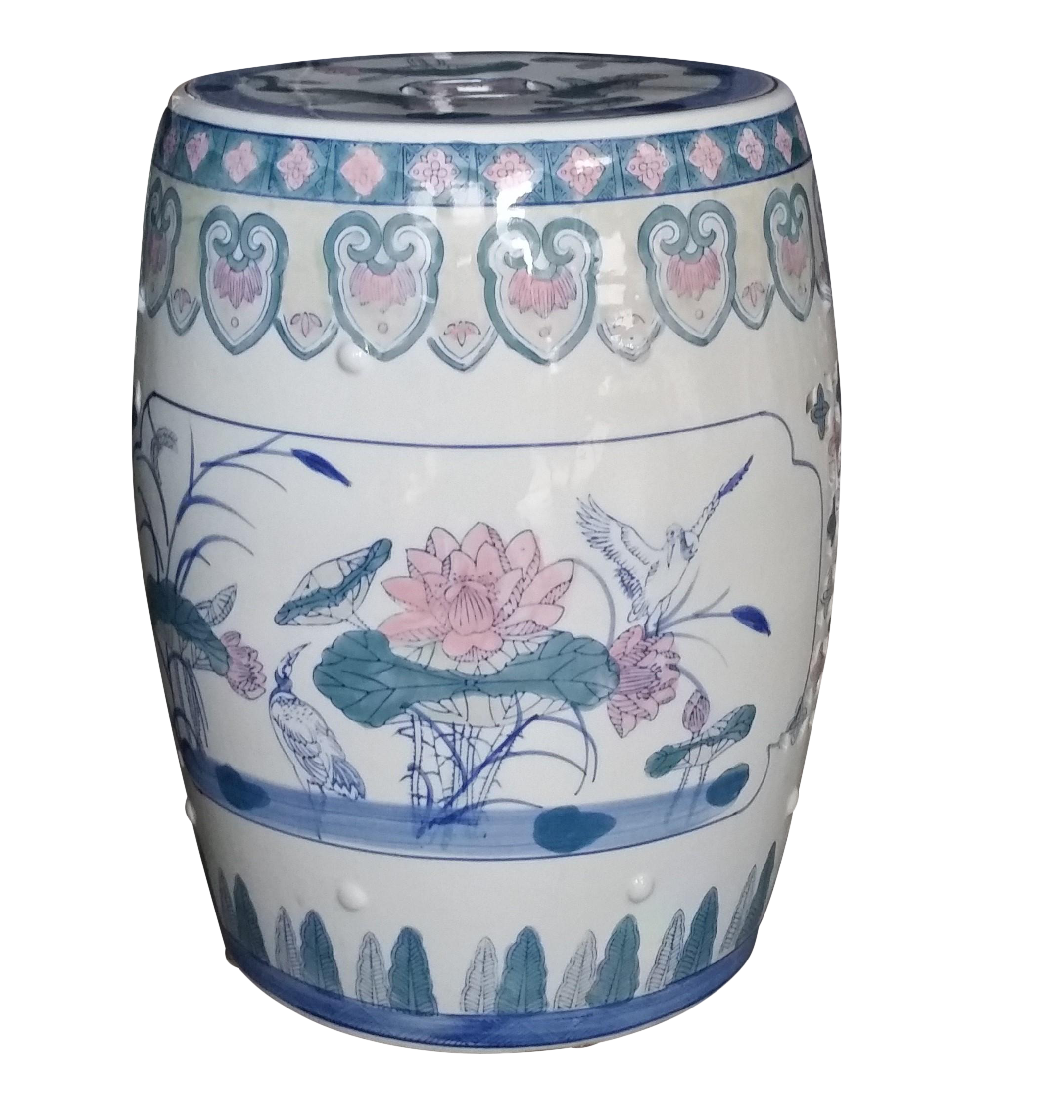 Prime Multi Color Chinese Porcelain Lotus Garden Stool On Chairish Cjindustries Chair Design For Home Cjindustriesco