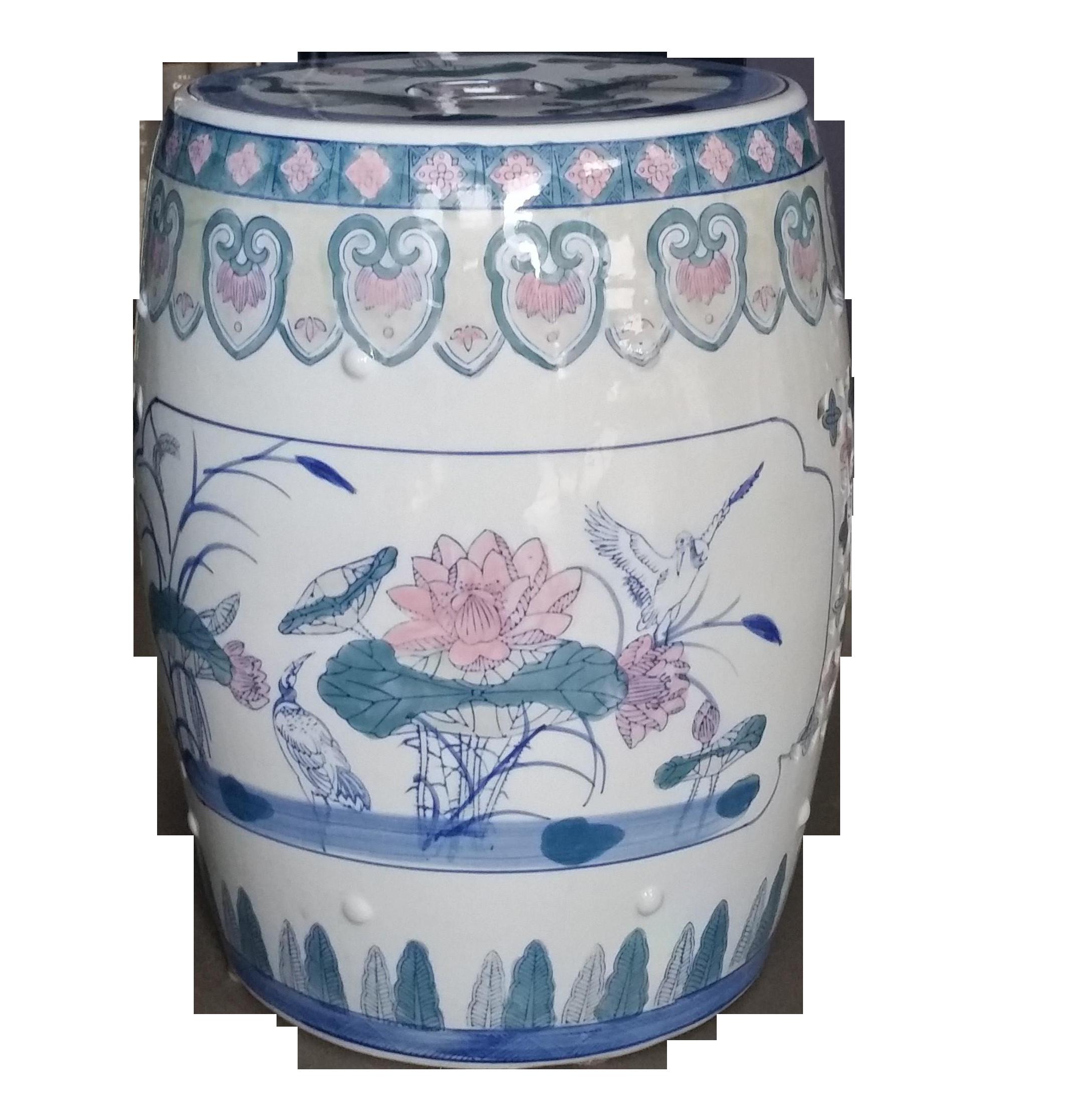 Fabulous Multi Color Chinese Porcelain Lotus Garden Stool On Chairish Ncnpc Chair Design For Home Ncnpcorg