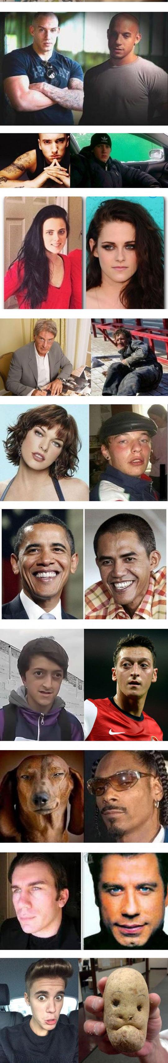 Famous People Look Alikes