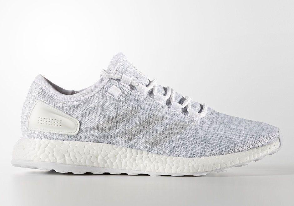 AUTHENTIC adidas Pureboost White Crystal White Grey # BA8893 WHT Men sz
