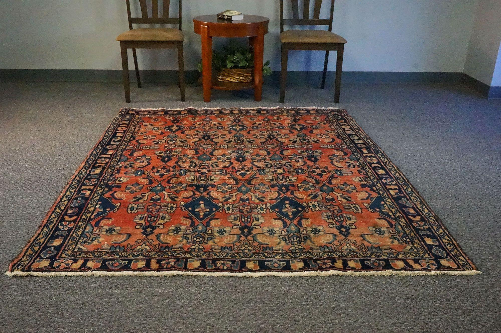 Tribal Geometric Area Rug Bedroom Pale Rug 5x6 Oriental Turkish Rug Vintage Orange And Blue Oushak Carpet 5 2 X5 11 Carpets Sku 1728 Goruntuler Ile