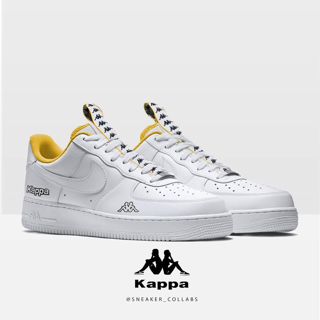 160ff1763b3 Kappa x Nike AF1 Low By   sneaker collabs Inspo   caincustomz