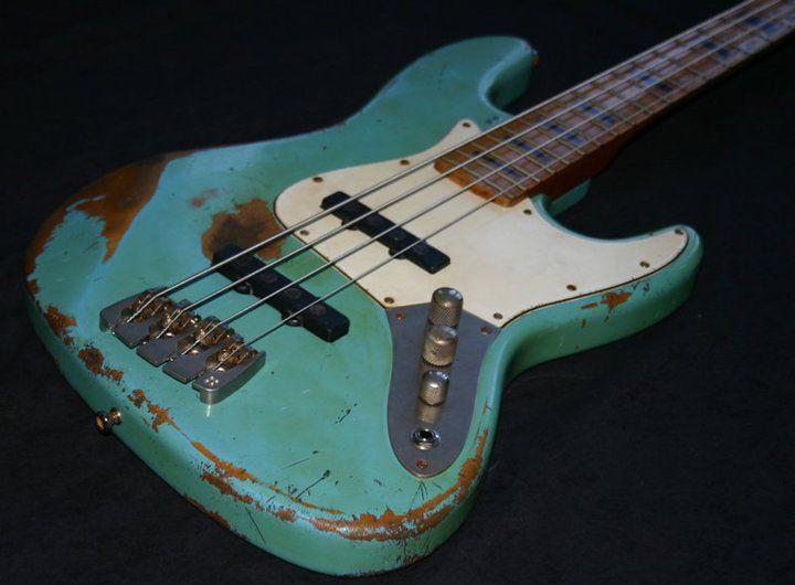 Damaged Beauty By Sandberg Guitars Bass Guitar Guitar Cool Guitar