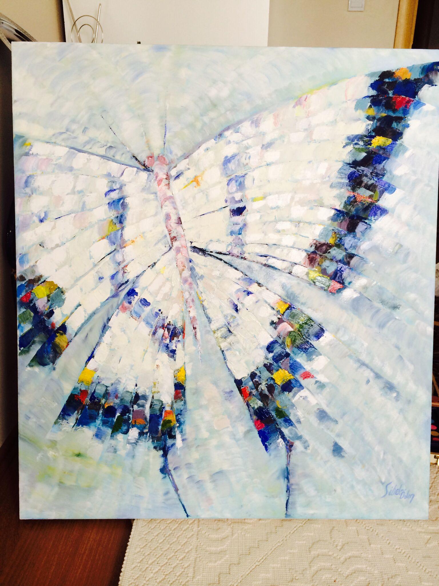 Kelebek Tablo Yagli Boya Tuval Sanati Tablolar Kelebekler