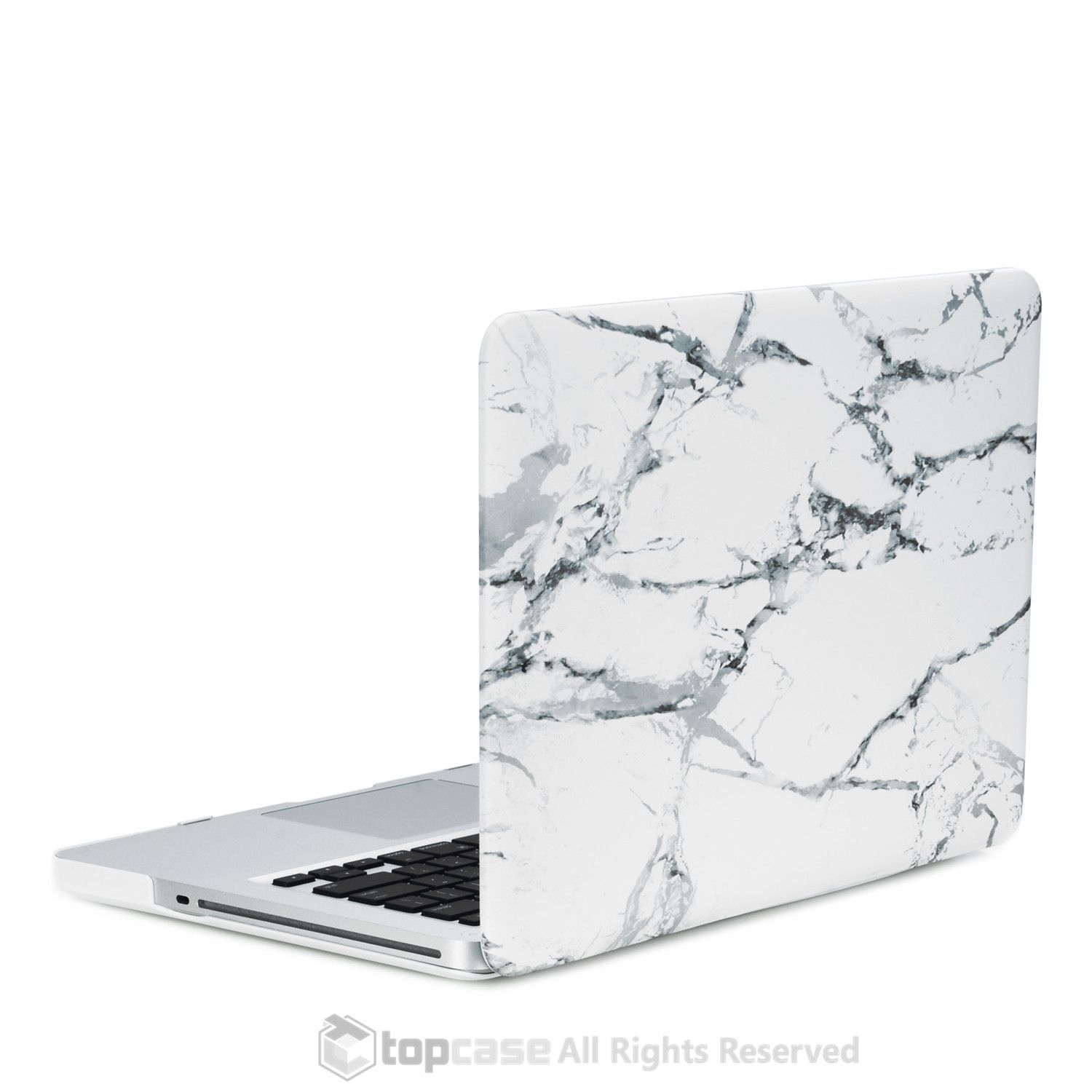 san francisco 5f632 99bd1 White Marble Rubberized Hard Case for MacBook Pro 13