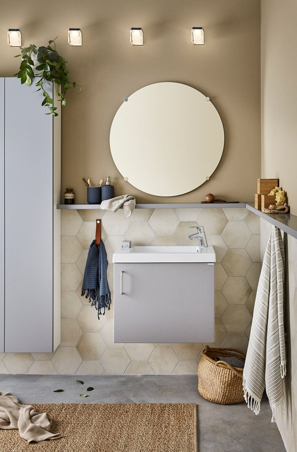 Photo of Bathroom furniture with hatch – Simple