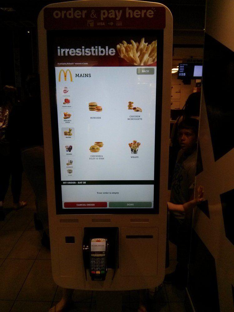McDonalds Toronto, ON, Canada. Huge tablet self serve