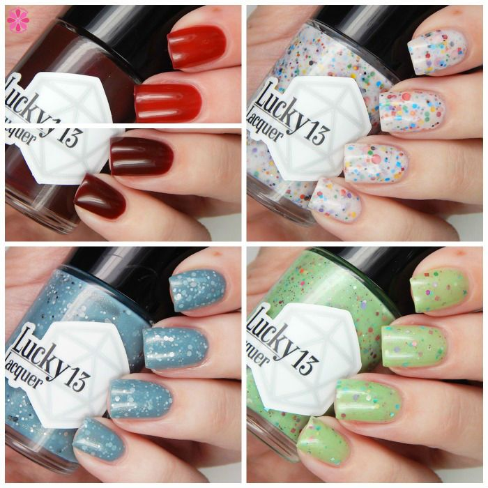 Lucky 13 Lacquer Knock 'Em Dead(pool) Collection Collage
