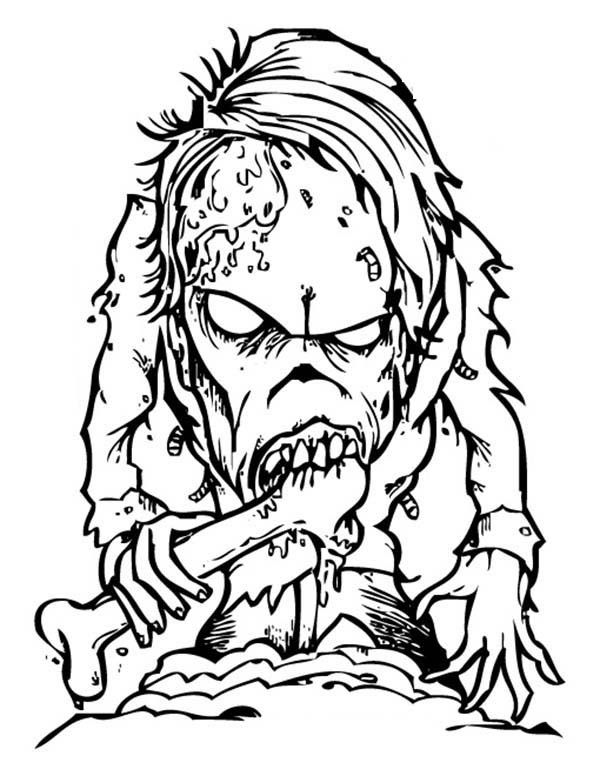 Scary Coloring Pages 4   adult coloring sheets   Pinterest   Scary ...