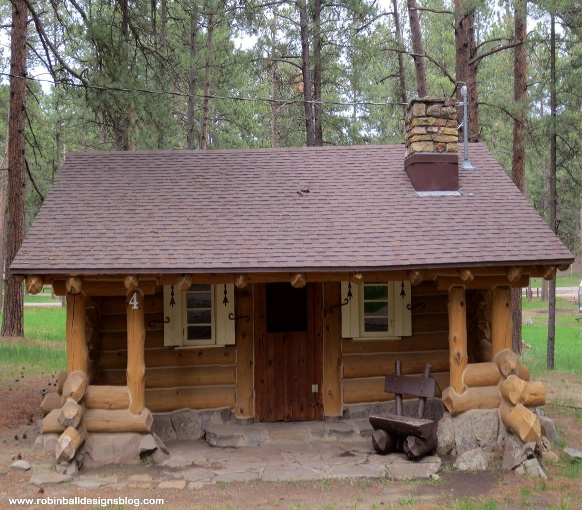 South Dakota, Custer State Park. Our Cabin At The Blue Bell Lodge. Click