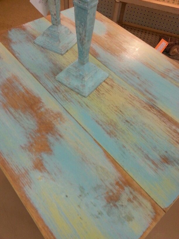 Table Painted With A Dry Brush Mix Of Turquoise Toulouse Dijon And Coastal Palm Farmhouse Paint Www Farmhou Dry Brush Painting Painted Table Farmhouse Paint
