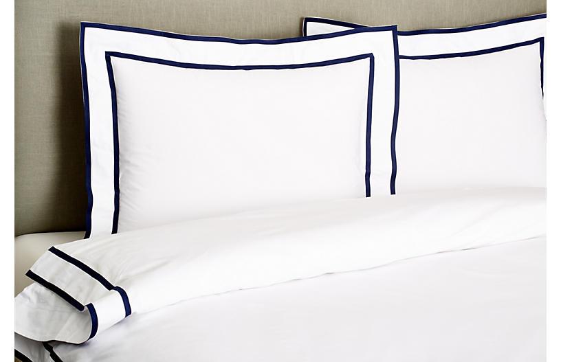 Collana Duvet Set Navy Duvet Sets Duvet Linen Duvet White comforter with navy trim