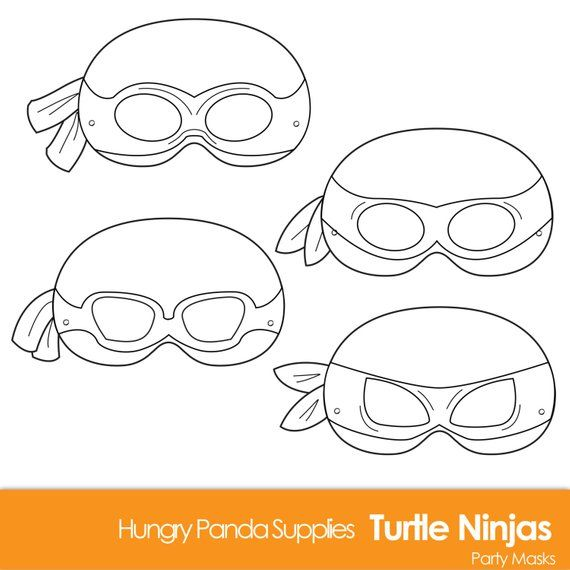 Turtle Printable Coloring Masks Mask Turtles Ninjas Superhero Ninja Cartoon M
