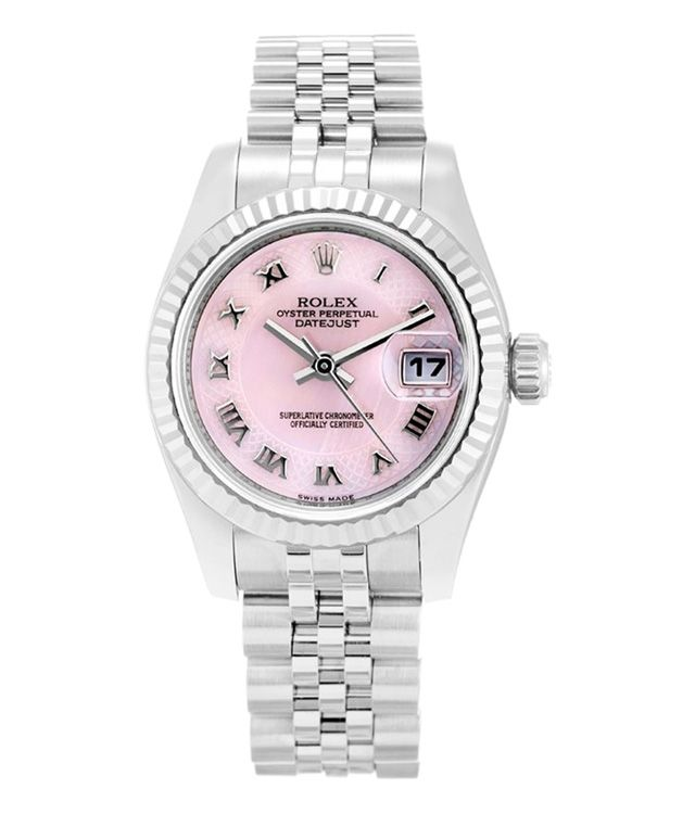 This is a pre-owned Rolex Datejust Lady 179174. It has a 26mm Stainless  Steel Case   18K White Gold Bezel 11d68809f