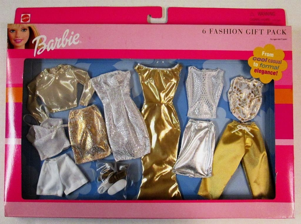 Barbie SILVER DRESS Barbie Doll Fashion Pack