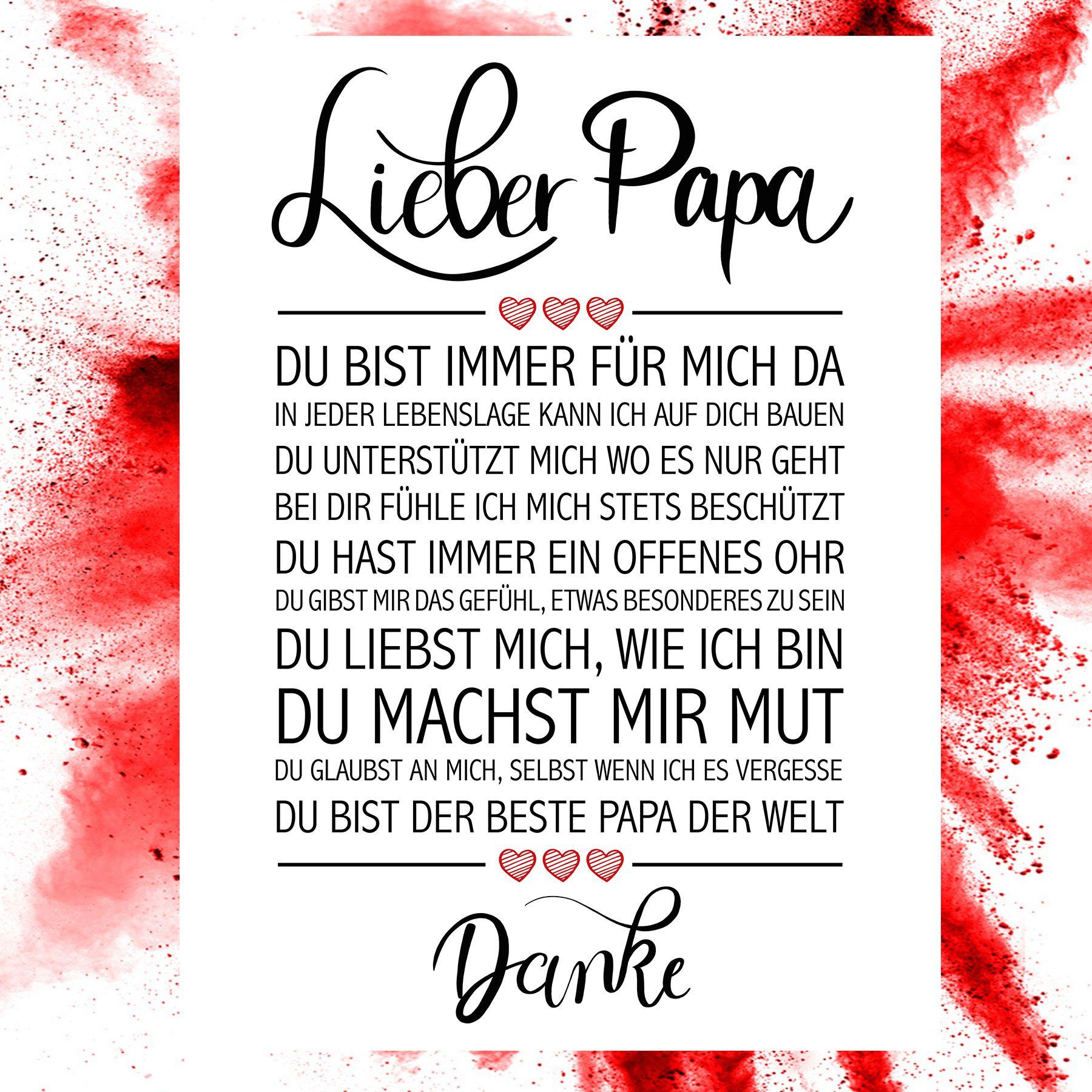 Lieber Papa Kunstdruck Mutter Zitate Gedichte Fur Sohne Und