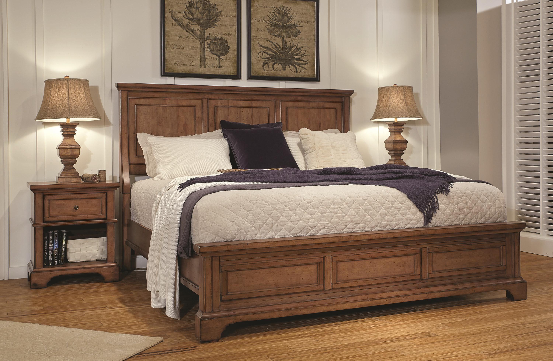 Aspenhome Alder Creek California King Panel Bed With Lamp Assist
