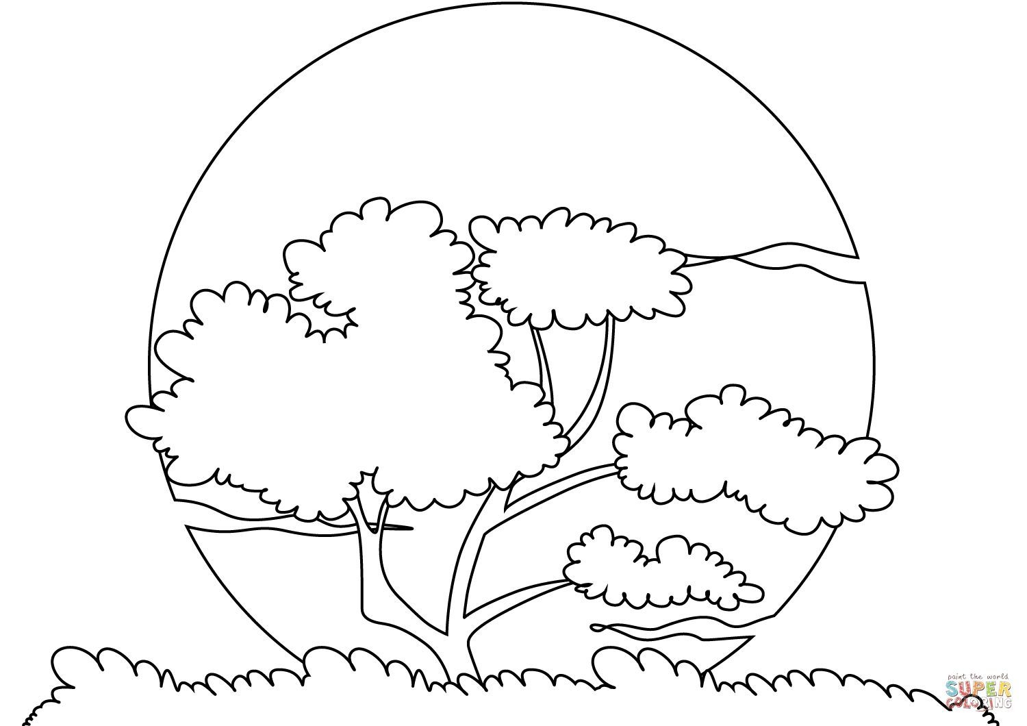 Sunset Coloring Pages for Adults Download