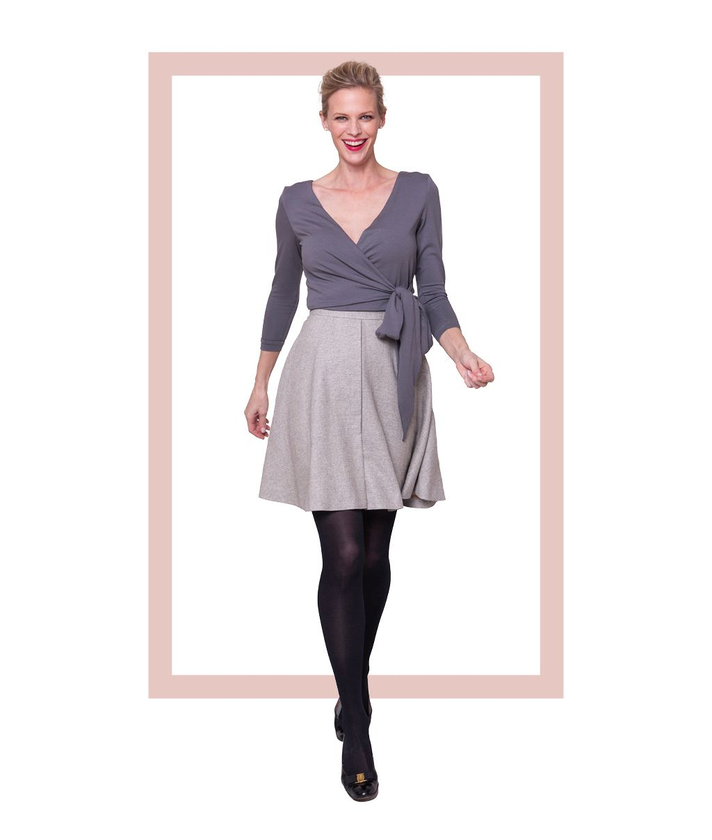 Elmira cardigan and Brooklyn skirt. | Seamwork sewing inspiration ...