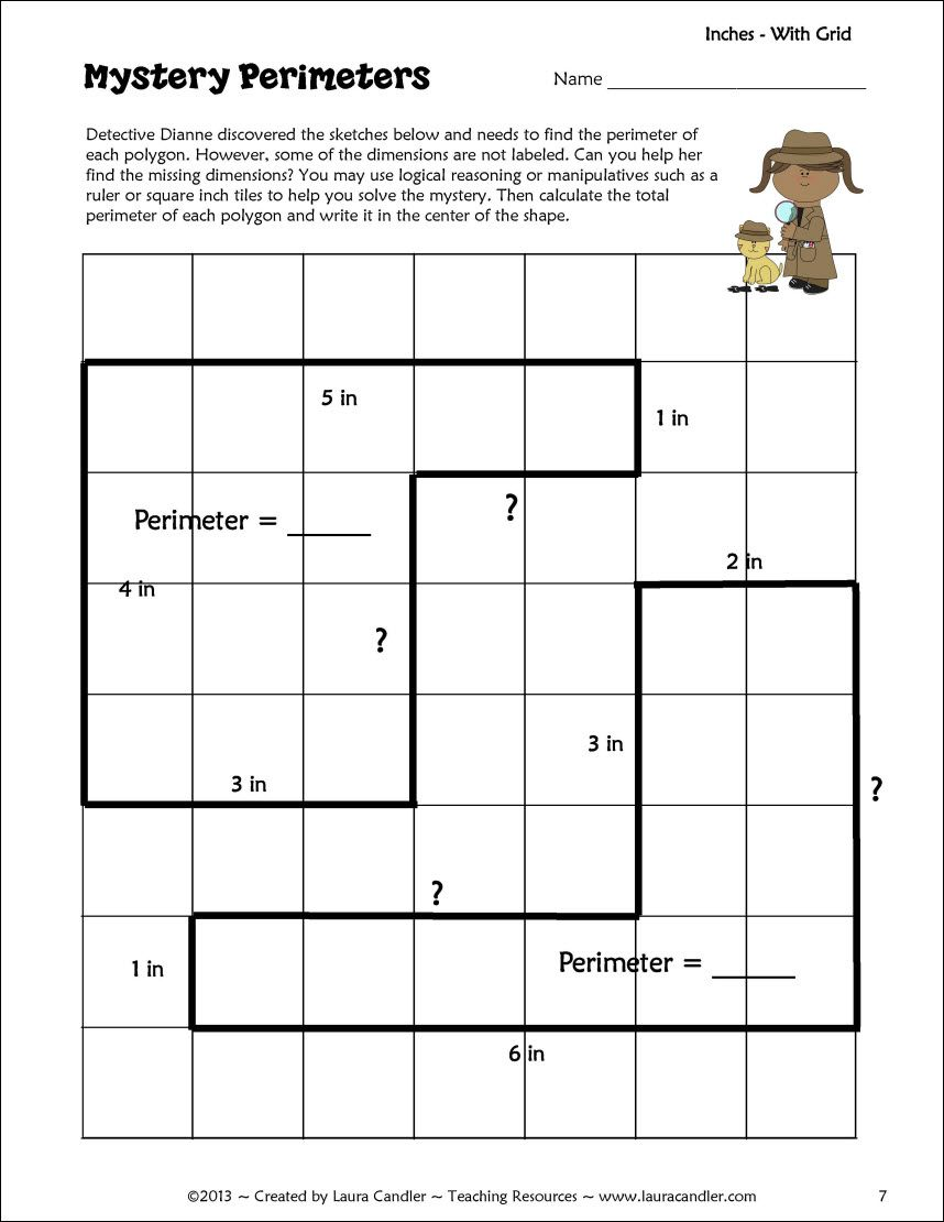 hight resolution of Perimeter Activity Freebie   Ccss math
