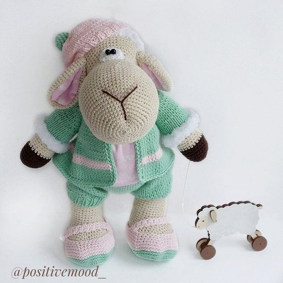Knitted toy Marshmallow Sheep / crochet toy / knitted animals / soft ...