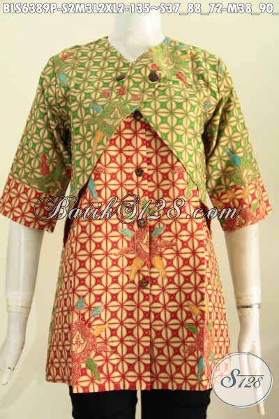 Hasil gambar untuk blouse kekinian 2017 kombinasi batik