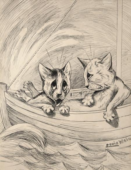 by LOUIS WAIN Sale artwork, Cat art, Artwork