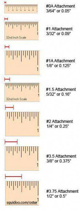 Oster Clipper Blade Size Chart Doggroomingtips Hair Clippers Hair Clipper Sizes Clipper Guard Sizes