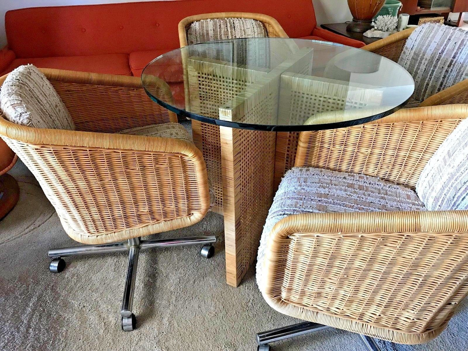 Muebles Long Lane - Mid Century Chromcraft Dinette Wicker Rattan Glass Table And [mjhdah]https://s-media-cache-ak0.pinimg.com/originals/6d/9f/0e/6d9f0ee901d4f2415e698b0441684d2d.jpg