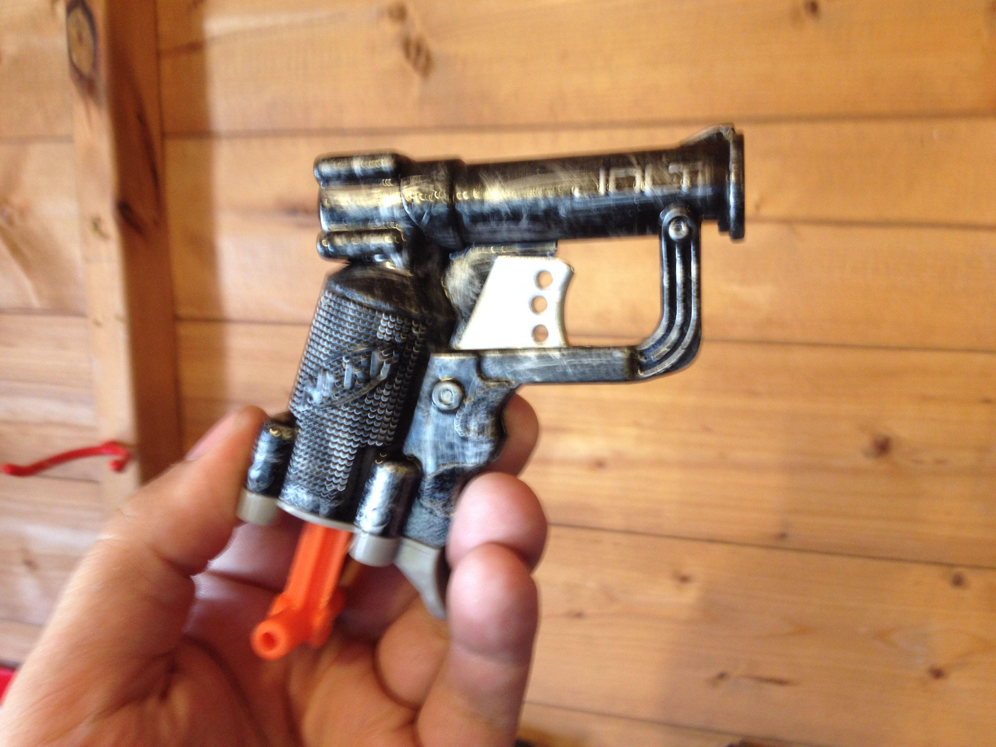 My custom Nerf Jolt gun, using dry brush