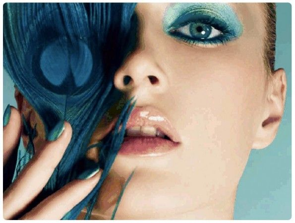 Dior makeup: Bird of Paradise Summer 2013: blue makeup