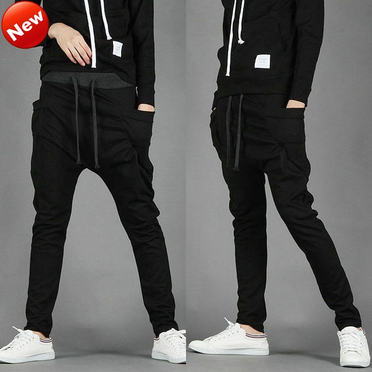 8a1eb3c8598 Men Women Unisex Casual Athletic Hip Hop Dance Sporty Harem Baggy Tapered  Sport Sweat Pants Trousers Sweatpants Slacks Joggers-in Women from.