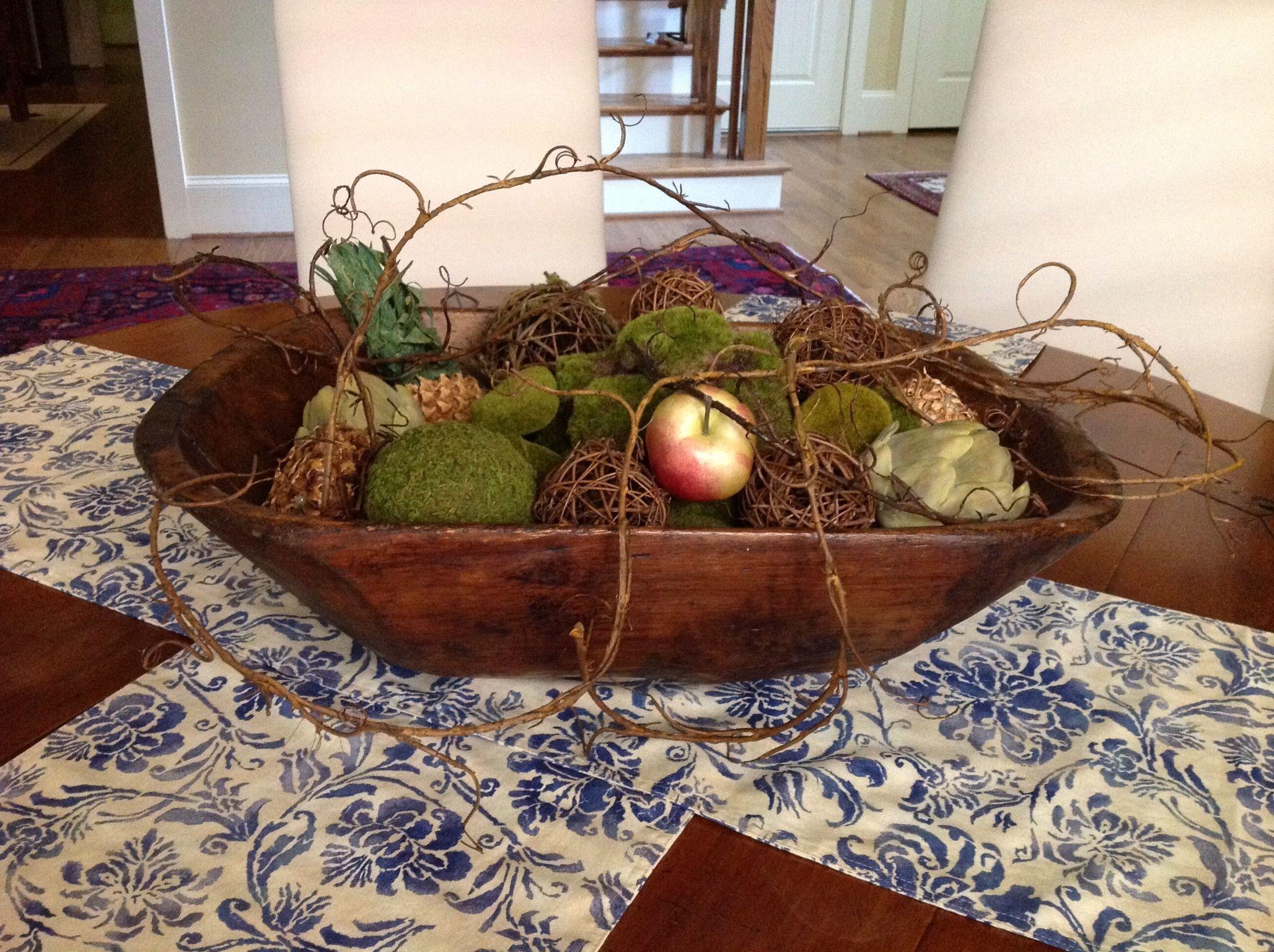 Large Wooden Dough Bowl Wooden Bowls Decor Dough Bowl