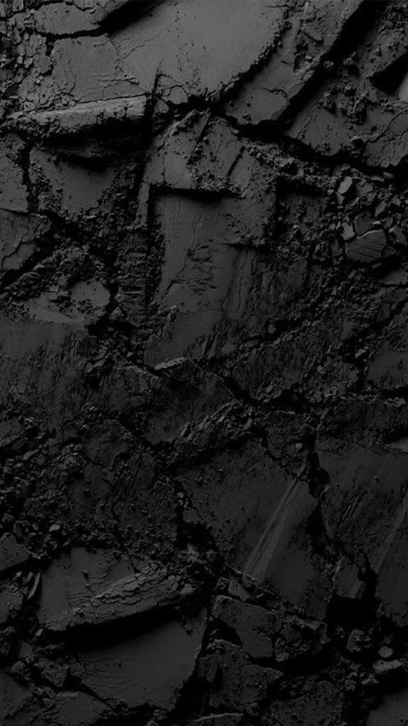 iPhone, Dark, Chrushed, Broken, Dry, Ground, Black