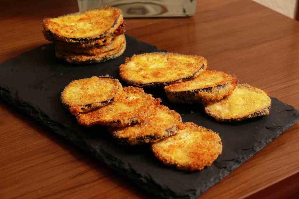 Chips De Berenjena Al Horno Receta Berenjena Al Horno Milanesas De Berenjena Y Chips De Berenjena