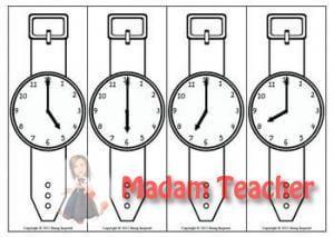 Kol Saati Boyama Sayfasi 3 Sinif Matematik Okul Okul Oncesi