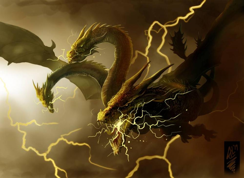King Ghidorah By Trevone On Deviantart Godzilla Godzilla Vs King Ghidorah Kaiju Art