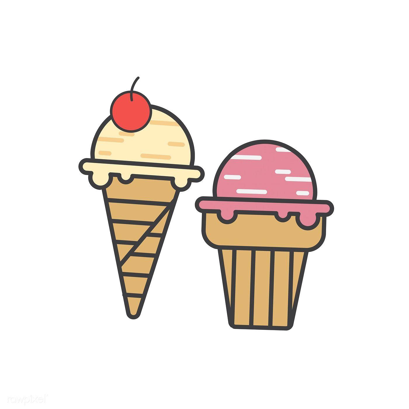 illustration of ice cream icon free image by rawpixel com illustration vector free icon illustration of ice cream icon free