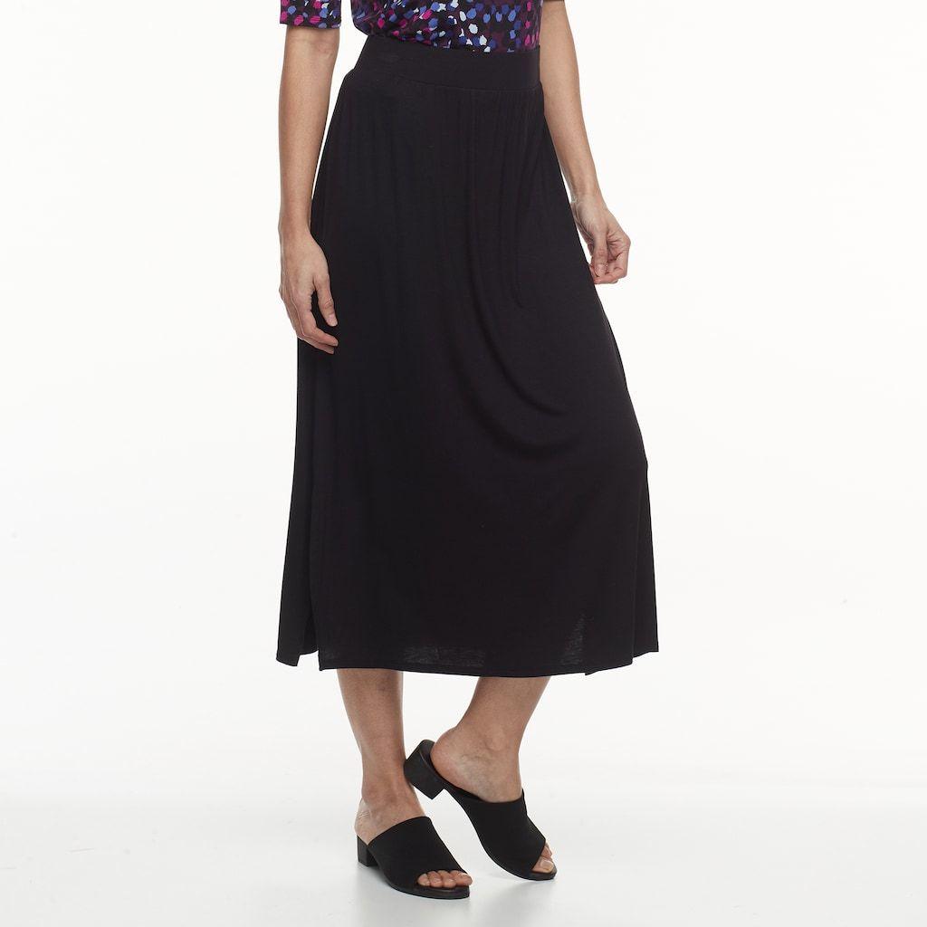 b7e1be7f2 Petite Dana Buchman Slit Maxi Skirt   Products   Skirts, High ...