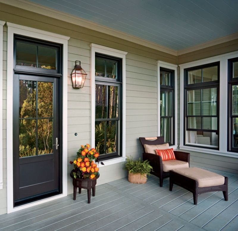 Bronze Windows Amp Door White Trim Lakehouse All Pins