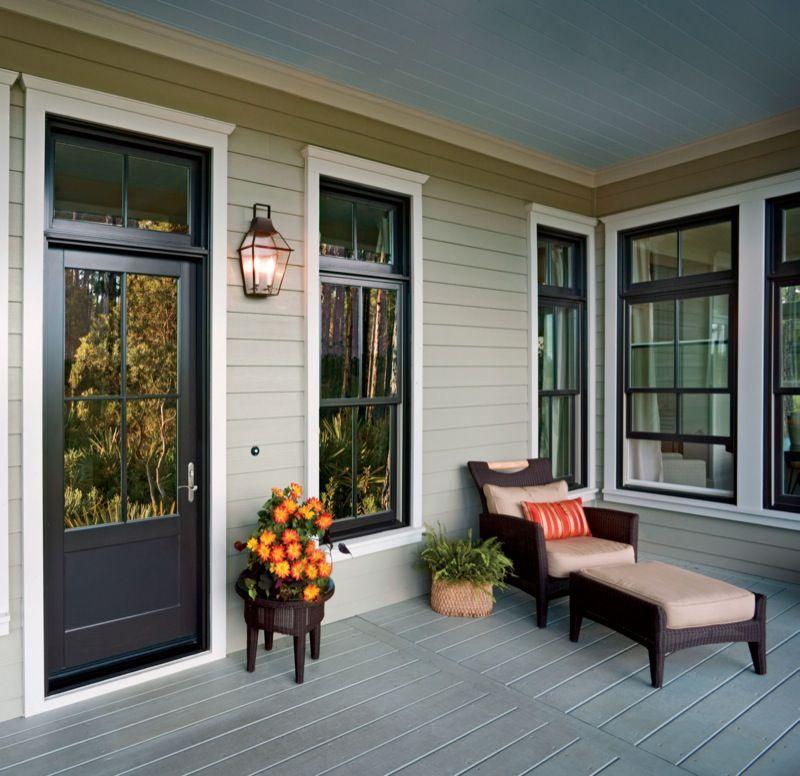 Bronze Windows & Door, White Trim
