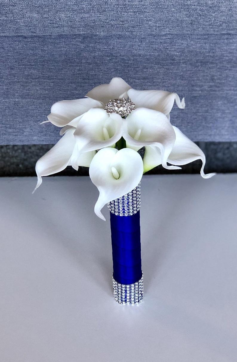 White Calla Lily Bridesmaid Bouquet White Lily Bouquet